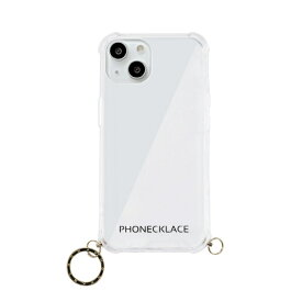【2021年9月】 ROA ロア iPhone 13 mini対応 5.4 inch ストラップ用リング付きクリアケース ゴールドチャーム PHONECKLACE PN21587i13MNGD