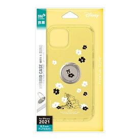 PGA iPhone 13 対応 6.1inch 2眼 リング付 抗菌ハイブリッドケース Premium Style くまのプーさん PG-DPT21K09POO