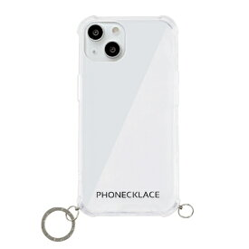 【2021年9月】 ROA ロア iPhone 13 対応 6.1 inch 2眼 ストラップ用リング付きクリアケース シルバーチャーム PHONECKLACE PN21598i13SV