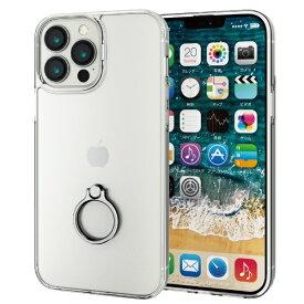 エレコム ELECOM iPhone 13 Pro Max対応 6.7inch/ハイブリッドケース/リング付き PM-A21DHVCKRSV