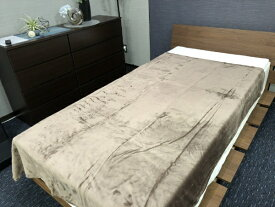 大宗 【毛布】ソフトタッチなめらか毛布 クロエ シングルサイズ(140x190cm/ブラウン)