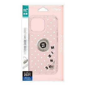 PGA iPhone 13 Pro 対応 6.1inch 3眼 リング付 抗菌ハイブリッドケース Premium Style ミニーマウス PG-DPT21N08MNE