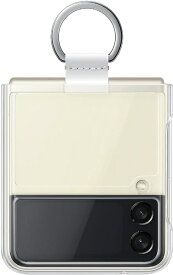 【2021年10月06日発売】 GALAXY ギャラクシー SAMSUNG サムスン 【サムスン純正】Galaxy Z Flip3 5G Clear Cover with Ring クリア EF-QF711CTEGWW