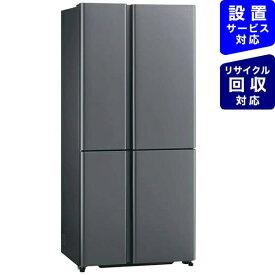 AQUA アクア 冷蔵庫 ダークシルバー AQR-TZA51K-DS [4ドア /観音開きタイプ /512L]《基本設置料金セット》