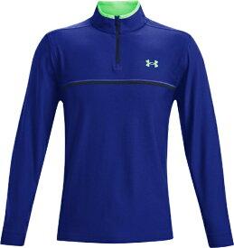 ドーム メンズ ゴルフ ジャケット UAプレーオフ2.0 1/4ジップ(XLサイズ/Academy / Royal / Stadium Green)1361821-410