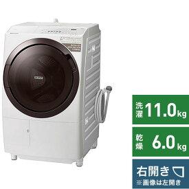 日立 HITACHI ドラム式洗濯乾燥機 ホワイト BD-SX110GR-W [洗濯11.0kg /乾燥6.0kg /ヒーター乾燥(水冷・除湿タイプ) /右開き]