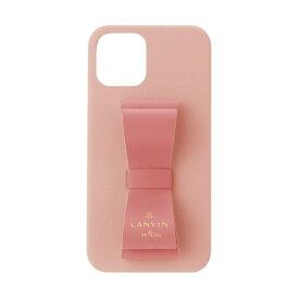 【2021年10月上旬】 LANVIN en Bleu ランバンオンブルー LANVIN en Bleu - Slim Wrap Case Stand & Ring Ribbon 2-Tone for iPhone 2021(6.1inch 2レンズ) [ Baby Pink/Vivid Pink ] LANVIN en Bleu ランバンオンブルー LBR2BPVWPIP2161