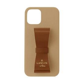 【2021年10月上旬】 LANVIN en Bleu ランバンオンブルー LANVIN en Bleu - Slim Wrap Case Stand & Ring Ribbon 2-Tone for iPhone 2021(6.1inch 2レンズ) [ Retro Red/Terracotta ] LANVIN en Bleu ランバンオンブルー LBR2RRTWPIP2161