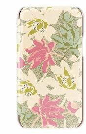 【2021年10月上旬】 Ted Baker テッドベーカー Ted Baker - Folio Case for 2021 iPhone 5.4-inch [ Flowers Cream Rose Gold ] Ted Baker テッドベーカー 83427