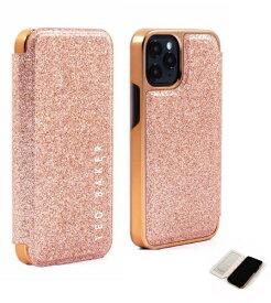 【2021年10月上旬】 Ted Baker テッドベーカー Ted Baker - Folio Case for 2021 iPhone 5.4-inch [ Glitter Pink Nude Rose Gold ] Ted Baker テッドベーカー 83540