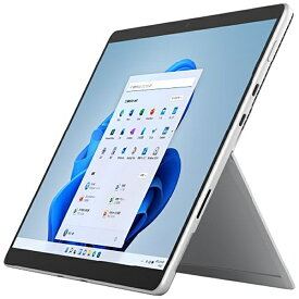 【2021年11月01日発売】 マイクロソフト Microsoft Surface Pro8[SSD 256GB/メモリ 16GB/Intel Core i5/プラチナ/2021年]8PT-00010Windowsタブレット【rb_win11】
