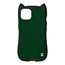 ラスタバナナ RastaBanana iPhone 13 対応 6.1inch 2眼 猫耳 mimi グリーン 6427IP161HB