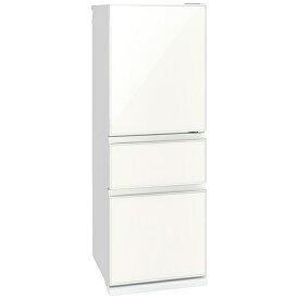 三菱 Mitsubishi Electric 冷蔵庫 CGシリーズ ナチュラルホワイト MR-CG33G-W [3ドア /右開きタイプ /330]《基本設置料金セット》