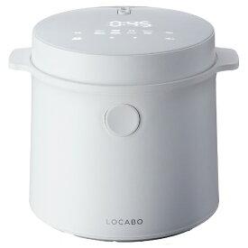 LOCABO 糖質カット炊飯器 LOCABO JM-C20W-W [5合 /マイコン]