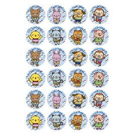 はげましシール<ホログラムシール>キャラ【授業/小学校/ごほうびシール/学習シール/採点/教師/教員/先生用品/シール】