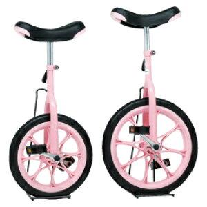 ノーパンク一輪車 16インチ ピンク【室外遊具/一輪車】