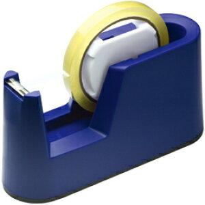 テープカッター(10台入)ブルー【粘着テープ/セロテープ】