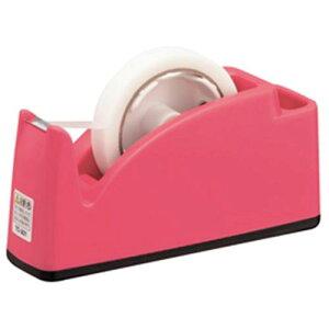 テープカッター(ポケット付)ピンク【粘着テープ/セロテープ】