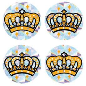 ミニ王冠シール<ホログラムシール>【授業/小学校/ごほうびシール/学習シール/採点/教師/教員/先生用品/シール】