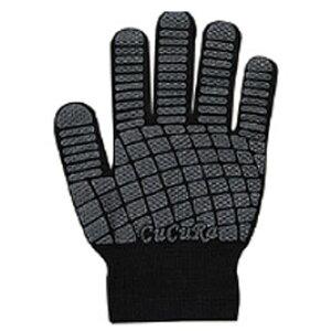 すべり止め付手袋 キュキュラ ブラック【設備管理・収納用品/軍手】