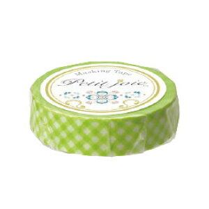 マスキングテープギンガムチェック黄緑【粘着テープ/装飾用テープ】