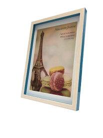 額縁 マカロンフレーム Macaron frame Blue A4(B5サイズマット付) fmc-61631 OAサイズ 北欧 おしゃれ かわいい パステルカラー 雑貨 壁掛け インテリア あす楽