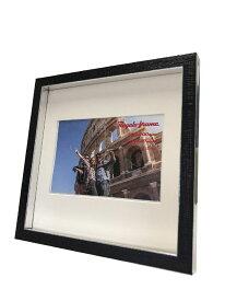 額縁 レガーロフレーム Regalo frame Silver 200x200mm(ハガキサイズマット付) frg-61643 壁掛け おしゃれ かわいい あす楽