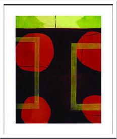 アートフレーム シビル ハッシンジャー Sybille Hassinger Untitled HAS917 ish-60295 絵画 壁掛け おしゃれ 送料無料