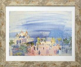 アートフレーム 名画 ラウル・デュフィ Raoul Dufy Le casino de Nice, 1934 L(WH) zfa-61802 絵画 壁掛け おしゃれ 送料無料 あす楽