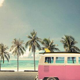 プチキャンバス キャンバスアート Petit Canvas Art バス&ビーチ 300x300mm ZPT-61538 アートパネル 西海岸 サーフィン サーファー ハワイアン 海 モダン ファブリック パネル ボード あす楽