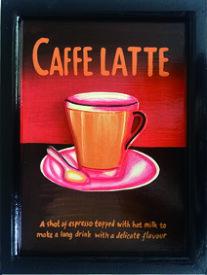 ハンドメイドサインボード Handmade Sign Board No,4 CAFFE LATTE zsb-60695 壁掛け おしゃれ あす楽