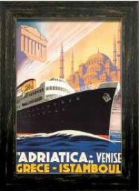 オールドトラベルポスター OldTime Travel PosterFrame ztp-60304 絵画 壁掛け おしゃれ ビンテージ