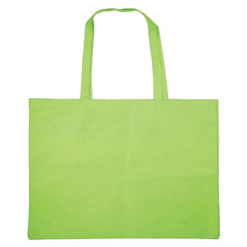 作品収納バッグ大 不織布(マチ付)黄緑 あす楽対象[メール便:80](スケッチ用具・イーゼル 多目的バッグ)
