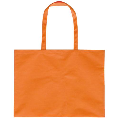 作品収納バッグ大 不織布(マチ付)オレンジ あす楽対象[メール便:80](スケッチ用具・イーゼル 多目的バッグ)