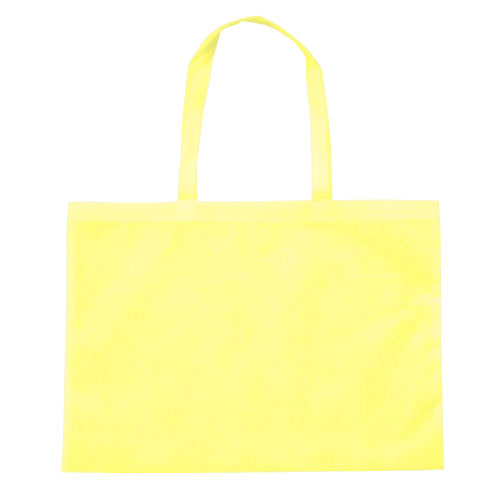 作品収納バッグ大 不織布(マチ付)薄黄 あす楽対象[メール便:80](スケッチ用具・イーゼル 多目的バッグ)
