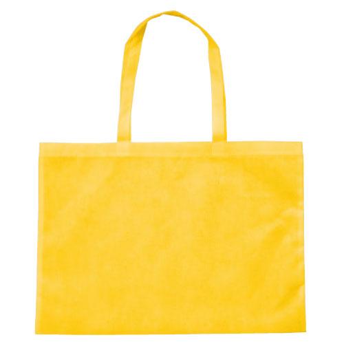 作品収納バッグ大 不織布 黄[メール便:80](スケッチ用具・イーゼル 多目的バッグ)