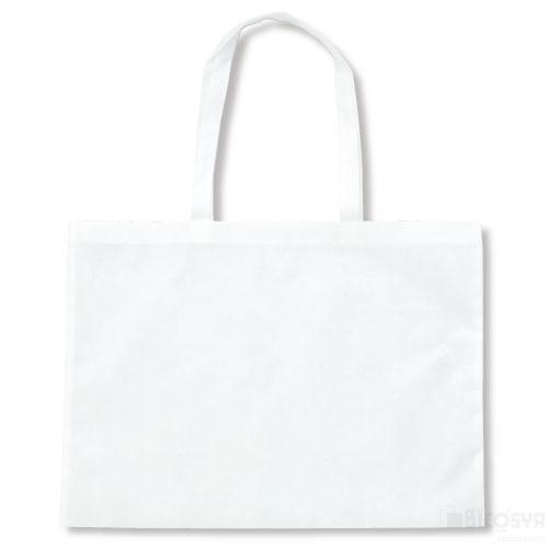 作品収納バッグ大 不織布(マチ付)白 あす楽対象[メール便:80](スケッチ用具・イーゼル 多目的バッグ)