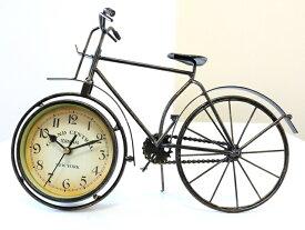 アンティーク 自転車 モチーフ オシャレな 自転車 置時計 自転車 時計 アイアン製 レトロ風 インテリア 雑貨 輸入 海外 おしゃれ 時計 置き時計 北欧 新築御祝
