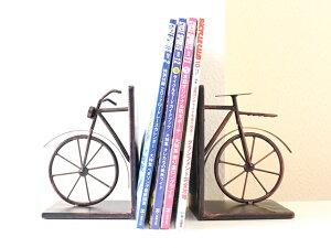自転車 ブックエンド レトロ自転車 バイシクル おしゃれ アンティーク調のブックエンド ブックスタンド 本立て 卓上 ビンテージ 雰囲気 北欧 自転車モチーフ 自転車好き テレワーク 部屋 イ