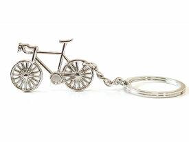 送料無料/ロードバイク 自転車 キーホルダー 鍵 おしゃれ メンズ レディース/キーリング 自転車モチーフ/かわいい バッグチャム/シルバー 自転車キーホルダー 自転車かぎ サイクリング☆ツールドフランス CYCLE サイクル スポーツ 弱虫ペダル