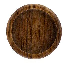 50個入 BIDOOR(ビドー) PW-01 木製チーク丸 クリアー サイズ大