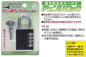 10個入 SOL HARD(ソール・ハード) No.320-40 BIG 番号設定用キー付きチェンジロック (4ケタ可変)
