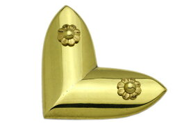BIDOOR(ビドー) EB-72 笹金物 L字形 真鍮磨上 50号