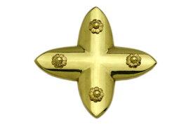 BIDOOR(ビドー) EB-82 笹金物 十字形 真鍮磨上 35号