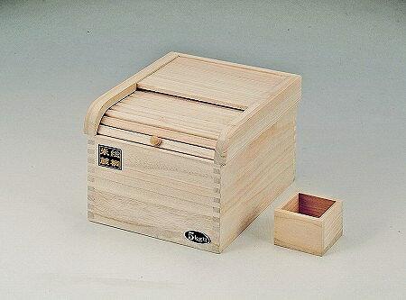 米びつ 桐製 5kg用 パール金属 約 幅24.5×奥行29.5×高さ20.5(cm)メーカー直送【代金引換利用不可】