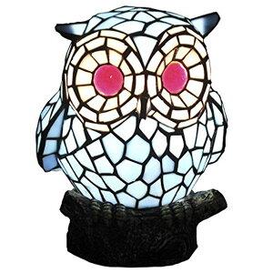 BIEYE照明L20008 フクロウ ティファニーランプ ステンドグラスランプ ガラスランプ 可愛いランプ 小夜灯 プレゼントランプ ベッドサイドランプ インテリアライト オシャレランプ 雰囲気作り