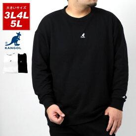 全品送料無料 カンゴール スウェット トレーナー 大きいサイズ メンズ 春 裏毛 ロゴ 刺繍 おしゃれ オシャレ 大人 白 黒 3L 4L 5L model005