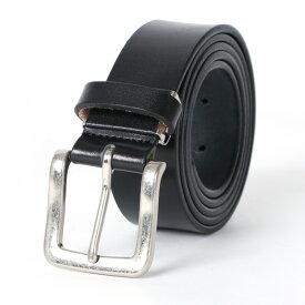 ベルト メンズ カジュアル HORN WORKS ホーンワークス レザー 牛革 帆型 無地 レザーベルト 牛革ベルト 革ベルト おしゃれ ビジネス シンプル プレゼント MRU おしゃれ オシャレ 大人 ファッション メンズファッション 黒 全長約130cm 小物