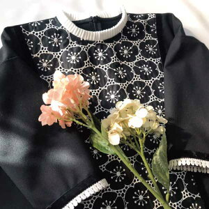 子供用 フレアワンピース 襟付き フォーマルドレス ハンドメイド 発表会 入学 入園 110サイズ 120サイズ 130サイズ
