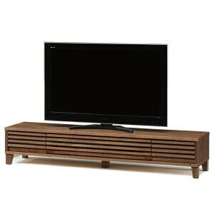 送料無料 180幅 テレビボード ウォールナット無垢材 くるみ 格子 和モダン オイル塗装 日本製 国産 TVボード テレビ台 引出し
